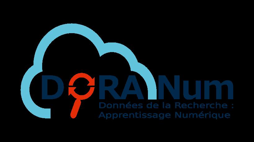 Logo de DoRANum : Données de la Recherche, Apprentissage Numérique.